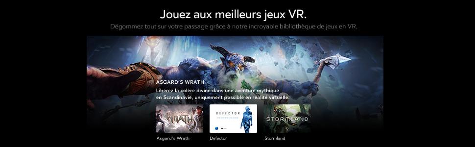 photo illustrant les graphismes des derniers jeux vidéos pour le casque de réalité virtuelle oculus rift S