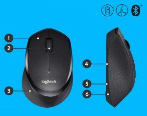 souris sans fil logitech m330