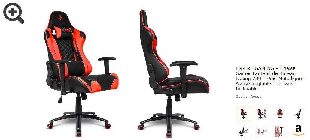 Orange EVANCEL Gaming Chaise Bureau Racing Chaise Ergonomique Inclinable Chaise de Jeu Fauteui de Bureau Pro Gamers avec Repose-Pieds R/étractable Support Lombaire